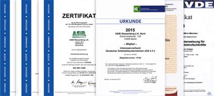 Urkunden und Zertifikate