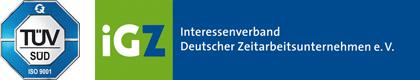 TÜV und iGZ Logo